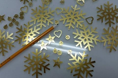 Κοπή διακοσμητικών Χριστουγέννων από Μπρούντζο 1mm